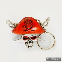 Novità Cranio Keychain Gomma Diavolo Monster Morte Monster Motor Chain Chain Pirate Ring Chavez Llaveros Men Trinket Accessori Regalo Originale