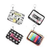 Wholesale Wholesale Preppy Accessories - Mini Cute Coin Purses Cartoon Key Ring Wallets Accessories Zipper Preppy Style Girl Bag Pendant LBQ451