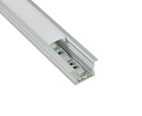 Wholesale Floor Lighting Strips - 10 X 1M sets lot Factory Anodized T type led profile and aluminum profile led strip for flooring or wall lights