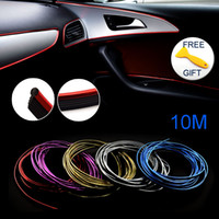 Wholesale change car color - 10M Trims Strips Accessories DIY Brand Thread Stickers Decoration and Decals 3D Auto Car-Styling Interior Decoration Accessories Strip