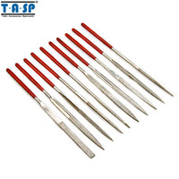 Wholesale Handy Diamond - TASP 10 Pieces 140mm Diamond Mini Needle File Set Handy Tools for Ceramic Glass Gem Stone Hobbies and Crafts