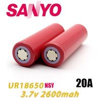 Wholesale Sanyo Rechargeable Flashlight - Original 100% Japan Sanyo 18650 Battery 2600mAh 20A UR18650NSY Rechargeable Battery Flashlight By FedEx 3 Days Free Ship
