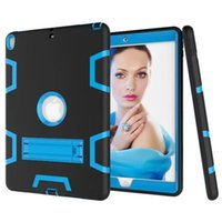 Wholesale Ipad3 Case Silicon - Heavy Duty Shockproof Armor Case for Apple iPad Min 1 2 3 4 5 6 Air Pro 9.7 10.5 Hard Hybrid High Impact Defender Full Body Protective Cover