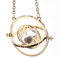 Wholesale pop necklaces - Pop Film Harry Time Turner Hourglass Vintage Pendant Hermione Granger Necklace Gold Plated Many Color Choose