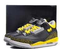 Wholesale Yellow Tang Shipping - Free Shipping Men Athletic Retro 3 Wu Sneakers III Tang Basketball Shoes