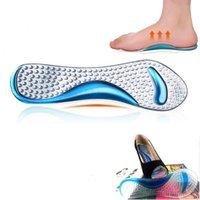 Wholesale high arch supports gel resale online - Gel Massage Arch Support Insoles Orthotic Flatfoot Prevent Foot Cocoon Painful Women High Heels Shoes Pad Silicone Inserts