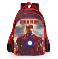 Wholesale Iron Bag Pattern - Heroes Iron Man Pattern Student Backpack Children Pupil School Bag Boys Girl Backpacks Book Bags for Kids teengers
