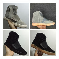 Wholesale Hot New Skateboard - 2017 new Mens Boost 750 Blackout Outdoors Sneaker,Kanye West shoes Hot Selling 750 Boost, Skateboard Shoes,Sneakeheads Shoe High Shoes