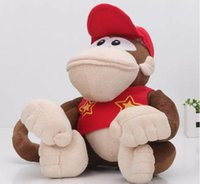 Wholesale Super Mario Bros Stuffed Animals - 22cm Super Mario Bros Plush Toys Cartoon stuffed Animals doll Monkeys and Donkey Kong For kids Best Christmas birthday gifts