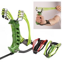 Wholesale Professional Shoot - Adult Powerful Hunting Slingshot With Rubber Band Tubing Pu Leather Catapult Professional Tactical Plastic Pocket Sling Shot