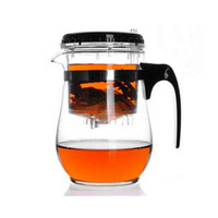 Wholesale Flowering Glass Tea Pot - 500ml Heat Resistant Glass Tea Pot Flower Puer Kettle Coffee Teapot Convenient Office Gongfu Tea Set ZA4886