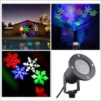 Wholesale move lamp for sale - Group buy AC100 V Waterproof Moving Snow Laser Projector Lamps Snowflake LED Stage Light For Christmas New year Party Light Garden Lamp