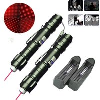 Wholesale Laser Belts - 2x 10Mile Military Red Laser Pointer Pen Star Cap Belt Clip Astronomy 5mw 650nm Powerful Cat Dog Toy+18650 Battery+Charger