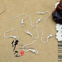 Wholesale Sterling Silver Earring Hooks 15mm - 200pcs lot hot Sterling 925 Silver Earring Findings Fishwire Hooks Jewelry DIY 15mm fish Hook Fit Earrings