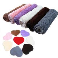 ingrosso stuoia del bagno del cuore-All'ingrosso-30X40CM schiuma assorbente bagno bagno pavimento doccia a forma di cuore porta tappetino tappeto