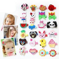 Wholesale miao embroidery - Best gift Children hair accessories embroidery hairpin girls hair clips baby children headdress FJ149 mix order 60 pieces a lot