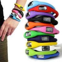 iyon kadınlar toptan satış-Yeni Kadın Erkek Anyon Sağlık Saatler Kız Erkek Spor Negatif Iyon Silikon LED Bilezik Spor Dijital LED Saatler Saatı