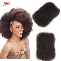 Wholesale Afro Kinky Human Braiding Hair - Afro Kinky Curly Brazilian Bulk Human Hair For Braiding Unprocessed Human Braiding Hair Bulk No Weft For African American Rebecca Sleek Hair
