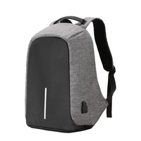 Wholesale Solid Macbook - Multifunction USB charging Men Laptop Backpacks For Teenager Fashion Male Mochila Leisure Travel backpack anti thief