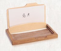 Wholesale Wholesale Business Cards Wooden - Fashion Men Women's Unisex Wooden Business Name ID Credit Card Holder Case Wood Card Storage Box Home Office Supplies LLFA