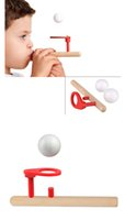 Wholesale Wooden Puzzle Ball - Baby Wooden Puzzle Toys Kids Blowing Ball Balance Training Blow Ball Rod Children Boys Girls Learning Educational Toy