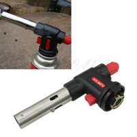 Vente en gros - Flamethrower Burner Butane Gas Blow Torch Auto Ignition BBQ Camping Tool