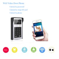 Wholesale Digital Video Doorbell - Wifi wireless video door phone High digital camera remote unlock monitor the outside anytime anywhere access control doorbell
