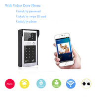 outside wireless cameras - Wifi wireless video door phone High digital camera remote unlock monitor the outside anytime anywhere access control doorbell