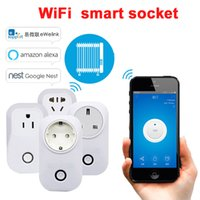Wholesale Sonoff S20 Smart WiFi Wireless Socket A W Power Supply Plug IOS Android Phone Remote Control for Smart Home EU US UK