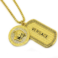 Wholesale 24k Plated Red Gold - Hot! 2017 New HipHop Medusha GD Pendant Necklace With Corn Chain 24K Gold Plated, hign quality and free shipping