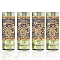 Wholesale Wooden Dragons - Vaporizer Dino E-Cigarette Wooden Dino Mod Mechanical Ecig Mod Kit with Dragon Pattern and Full Mechanical Mod DHL Free