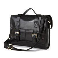 Wholesale Most Popular Business - Most Popular Business Style 100% Genuine Cow Leather Men's Handbag Briefcase Messenger Bag 7101