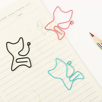 Wholesale Novelty Paper Clips - Bulk package 200 pcs Cat Shape Metal Bookmark Clip Memo Clip Paper Clip Bookmark DIY Novelty Office Learn Stationery