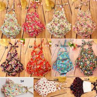 Wholesale Hot Babys - Baby Romper Toddler With Printed Flower Set Children One Pieces The Little Baby Clothes Babys Clothing 2017 Hot Sale High Quality