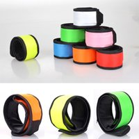 Wholesale Free Running Gear - Flashing Running Gear Glowing LED Wrist Band Lights Flash Nylon Cuff Bracelet UP Walking Running Safety Armband 7 Color Free DHL C43L