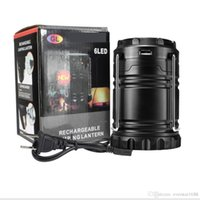 Portable Outdoor LED Camping Lantern Solaire pliable Light Outdoor Camping Randonnée Super Bright Light