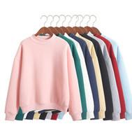 Wholesale Thick Pink Hoodie - Wholesale Plus Size XXL Cute Women Hoodies Pullover 9 colors 2017 Autumn Coat Winter Loose Fleece Thick Knit Sweatshirt Female