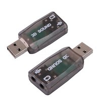 Wholesale New USB Sound Card USB Audio External USB Sound Card Audio Adapter Mic Speaker Audio Interface For Laptop PC