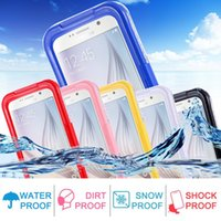 Wholesale Galaxy S4 Clear Hybrid Cases - 2017 NEW Bag For Samsung Galaxy S3 S4 S5 Note 4 5 S7 S7 Edge S6 Edge Plus Waterproof Cases Clear TPU Hybrid Swimming Dive S8 Plus Phone Case