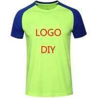 Wholesale Wholesale Men S Clothes - 2017 customize Logo Men's Short Sleeve Sport Running Shirt Quick Dry Breathable Soccer Training TShirt Men Gym Clothing Sportswear