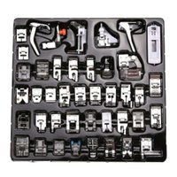 Wholesale Domestic Presser Foot - 42 Pcs Domestic Sewing Machine Braiding Blind Stitch Darning Presser Foot Feet Kit Set With Box Snap On For Brother Singer Set