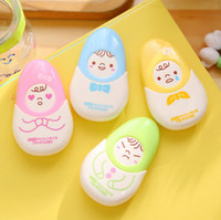 Wholesale Gift Student Prize - Wholesale- 1pc Expression Doll Correction Tape Promotional Gift Stationery Student Prize School Office Supply