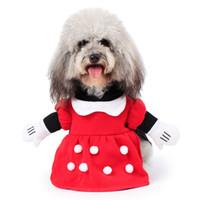 Wholesale funny santa costumes - Pet Dog Santa Clause Elf Cosplay Funny Costume Dog Clothes Pet Costume Apparel Dog cosplay Superhero Costume