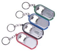 Wholesale Cheap Man Bottles - DHL Free Shipping Hot Sale Promotional LED Light Plastic Cheap Bottle Opener Keychain With Cheap Price