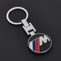 Wholesale Bmw E34 Ring - New Fashion Metal Car Logo emblem key ring keyring keychain key chain for bmw e30 e34 e36 e39 e46 e60 e90 f30 x 1 3 5 6 Chaveiro