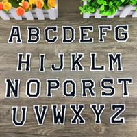ingrosso ricamate di panno-Lettera Patch Digital Paste School Nursery Numero Segno Logo Distintivo Ricamato Su Alfabeto Patch Per Panno Badges Pastes 0 3ss F