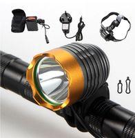 Wholesale u2 flashlight resale online - 1800LM DC Powered LED CREE L2 U2 Charging Cycling Bycicle headlight bike Accessories T6 Light Head lamp farol bike flashlight