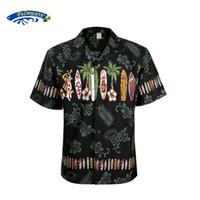 Wholesale Hawaii Long - Wholesale- 2016 New Summer Hawaiian Shirt Men US Size Plus Size Mens Short Sleeve Casual 100% Cotton Printing Hawaii Shirts A1396