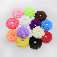 Wholesale peony clip flowers for sale - 1000pcs Soft Peony Flowers High Quality Silk Flowers DIY Flower Bouquet Newborn Hair Accessories With Hair Clips