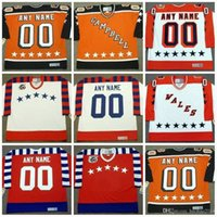 Wholesale Vintage Numbers - Wales All Star Jersey Mens Customized with any name & number Vintage Throwback Hockey Jerseys Personalized Campbell All Star